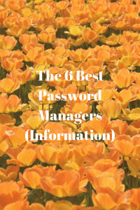 The 6 Best Password Managers (Information)
