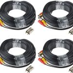 ABLEGRID 4 Pack 100ft bnc Video Power Cable Security Camera Cable Wire Cord for CCTV dvr Surveillance System (Included 2X BNC to RCA connector