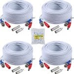 ANNKE (4) 30M/ 100ft All-in-One BNC Video Power Cables, BNC Extension Wire Cord for CCTV Camera DVR Secur