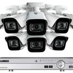 Lorex MPX 4KMPX88 Ultra HD 8 Channel Security System with DV9082 and 8 4K LBV8721 Outdoor Audio Metal Bullet Cameras