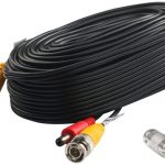 Postta BNC Video Power Cable (60 Feet) Pre-Made All-in-One Video Security Camera Cable Wire with Two Connectors for